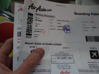 31 Boarding pass to AirAsia