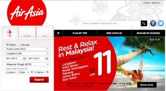 02 AirAsia main page