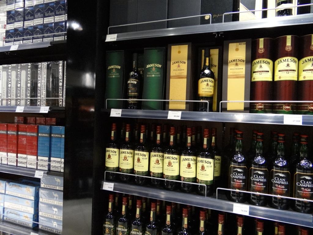 цены в дьюти фри на алкоголь в хургаде