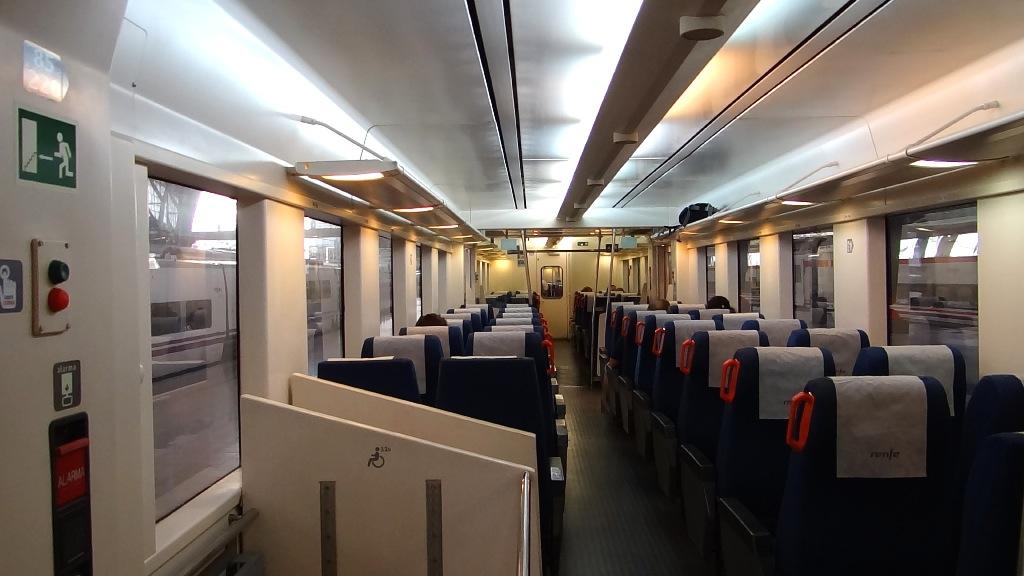 Barselona - PortAventura train inside