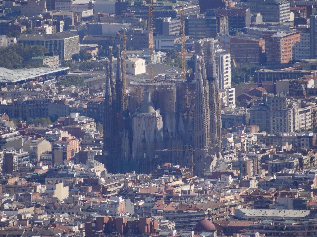 Sagrada Família sky view