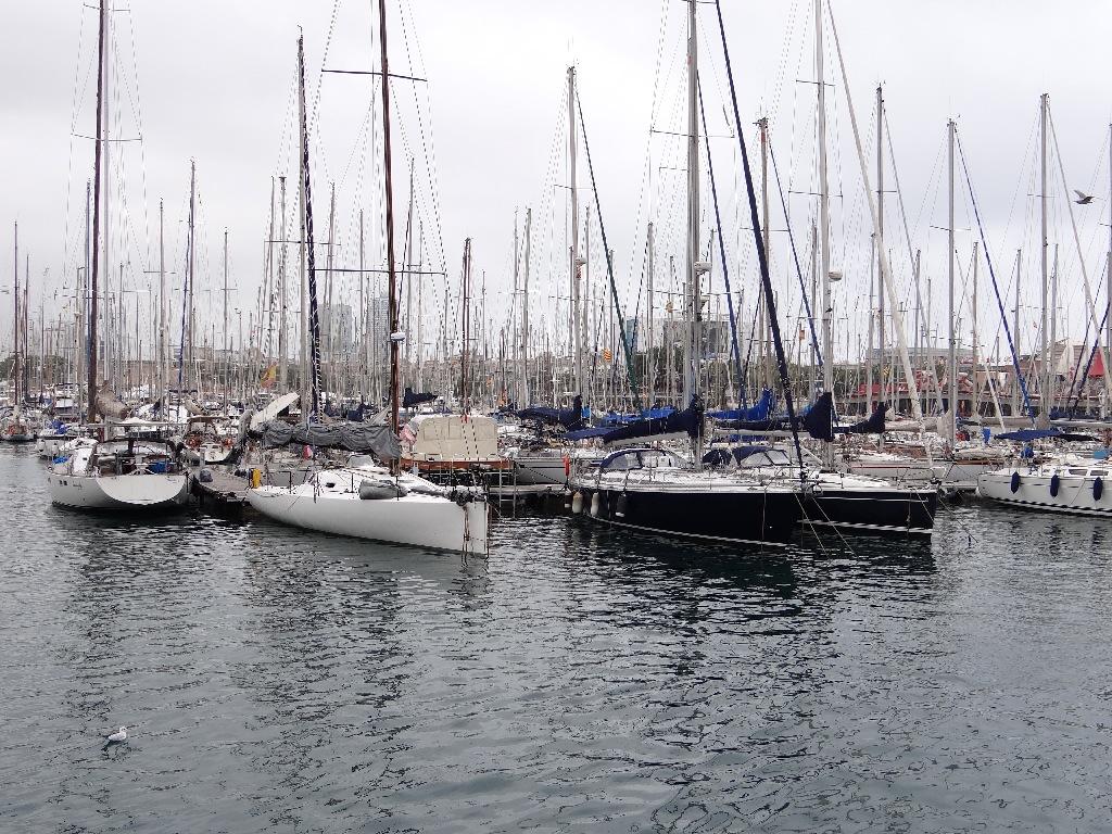 Seaside promenade yachts