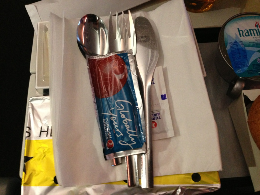 cutlery turkish airlines