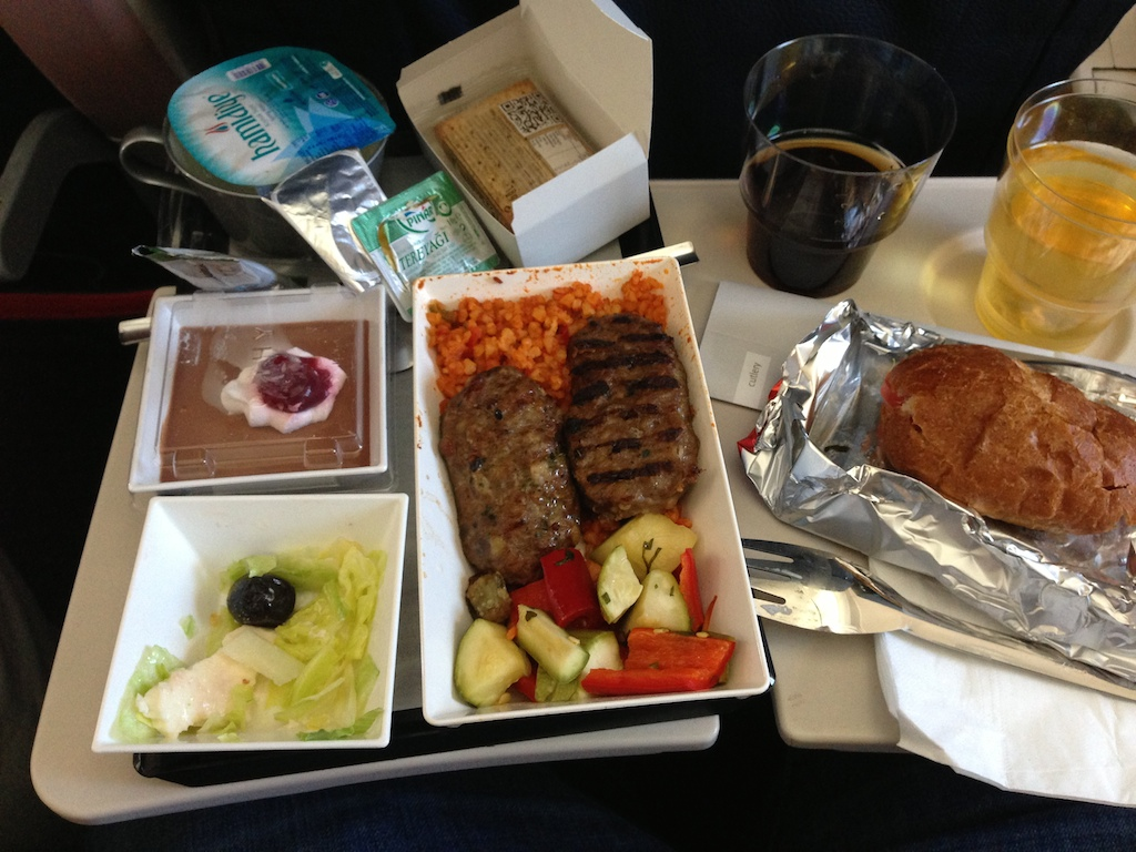 dinner turkish airlines