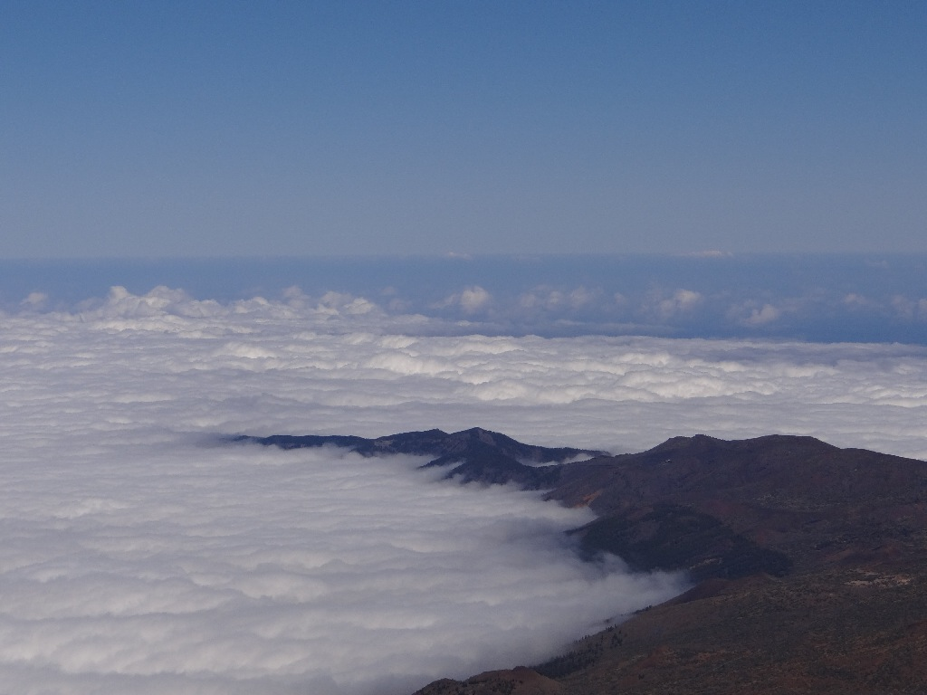 Above the clouds mountain