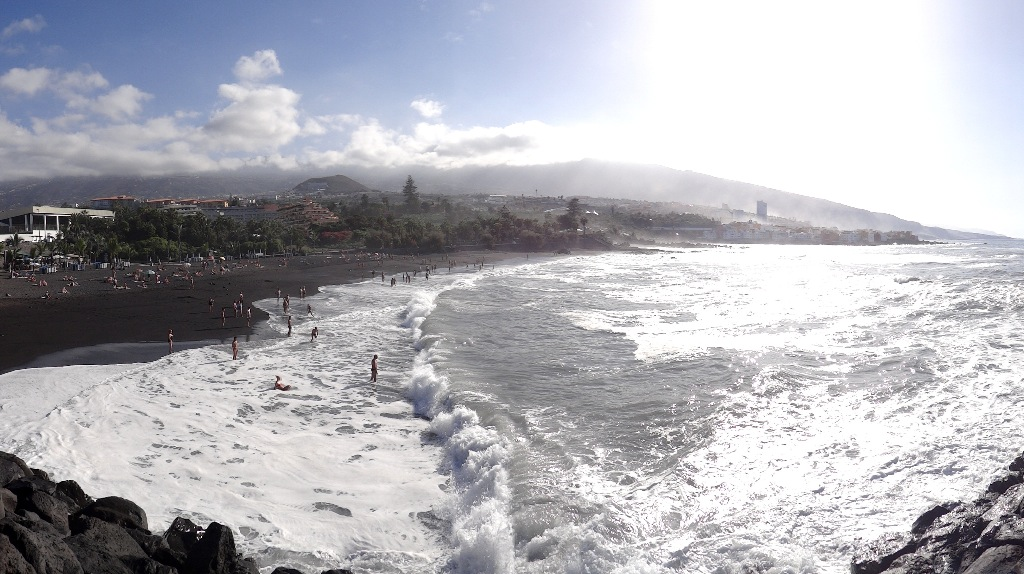 Beach in northern Tenerife