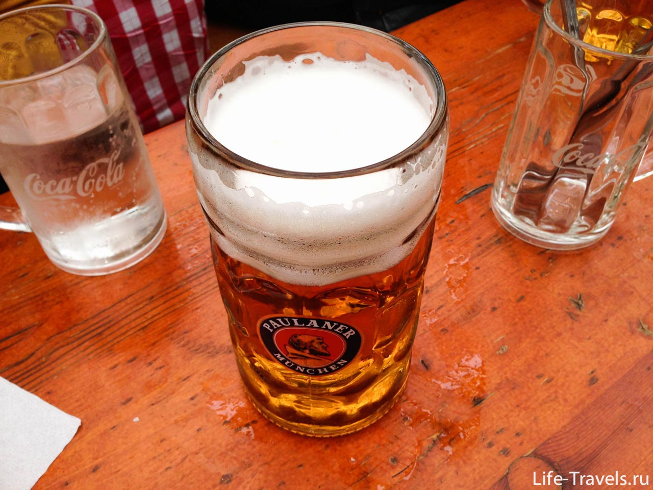 Beer Paulaner glass