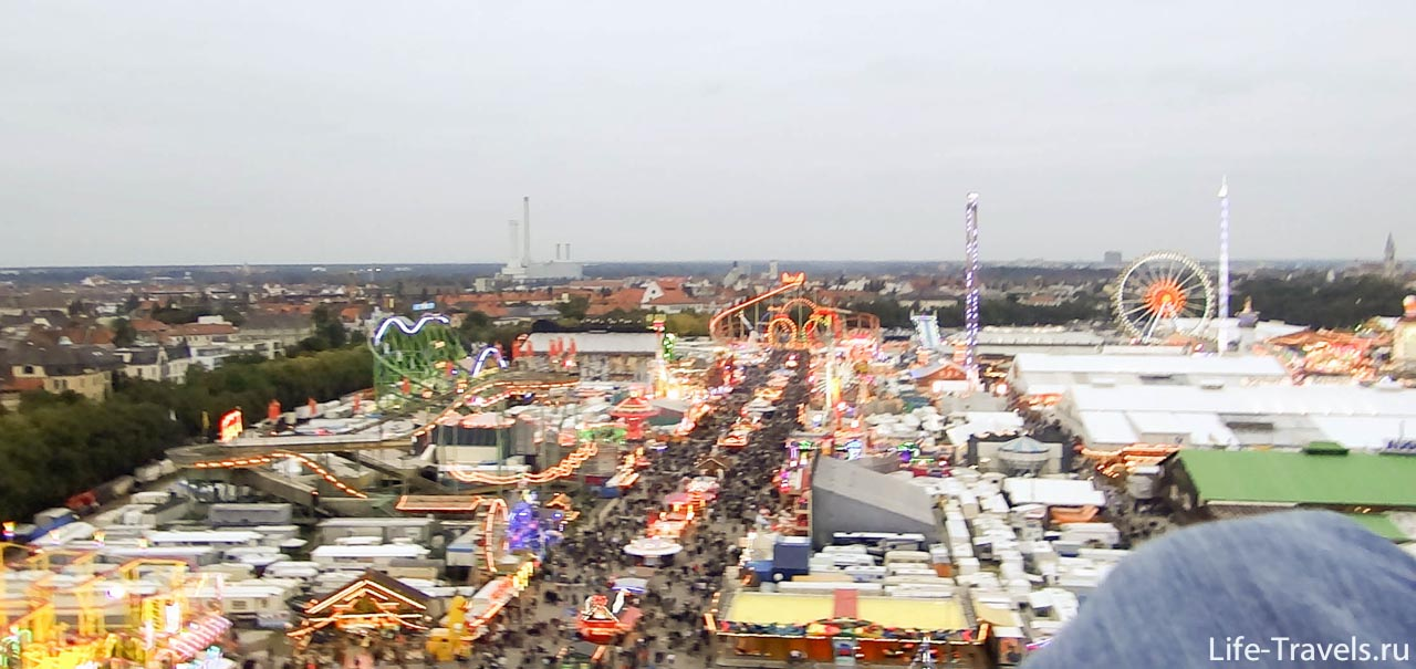 Oktoberfest birds eye view
