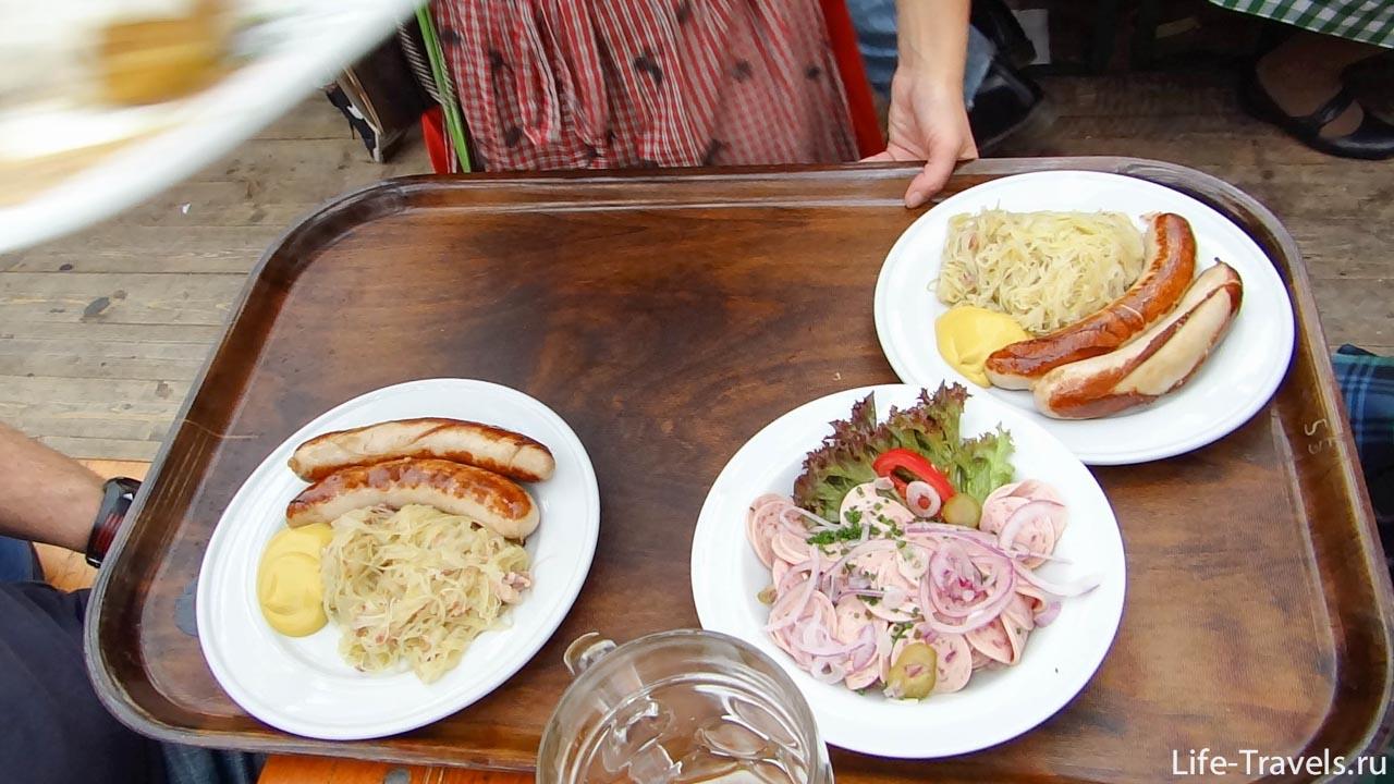 Фирменные колбаски с квашеной капустой Oktoberfest