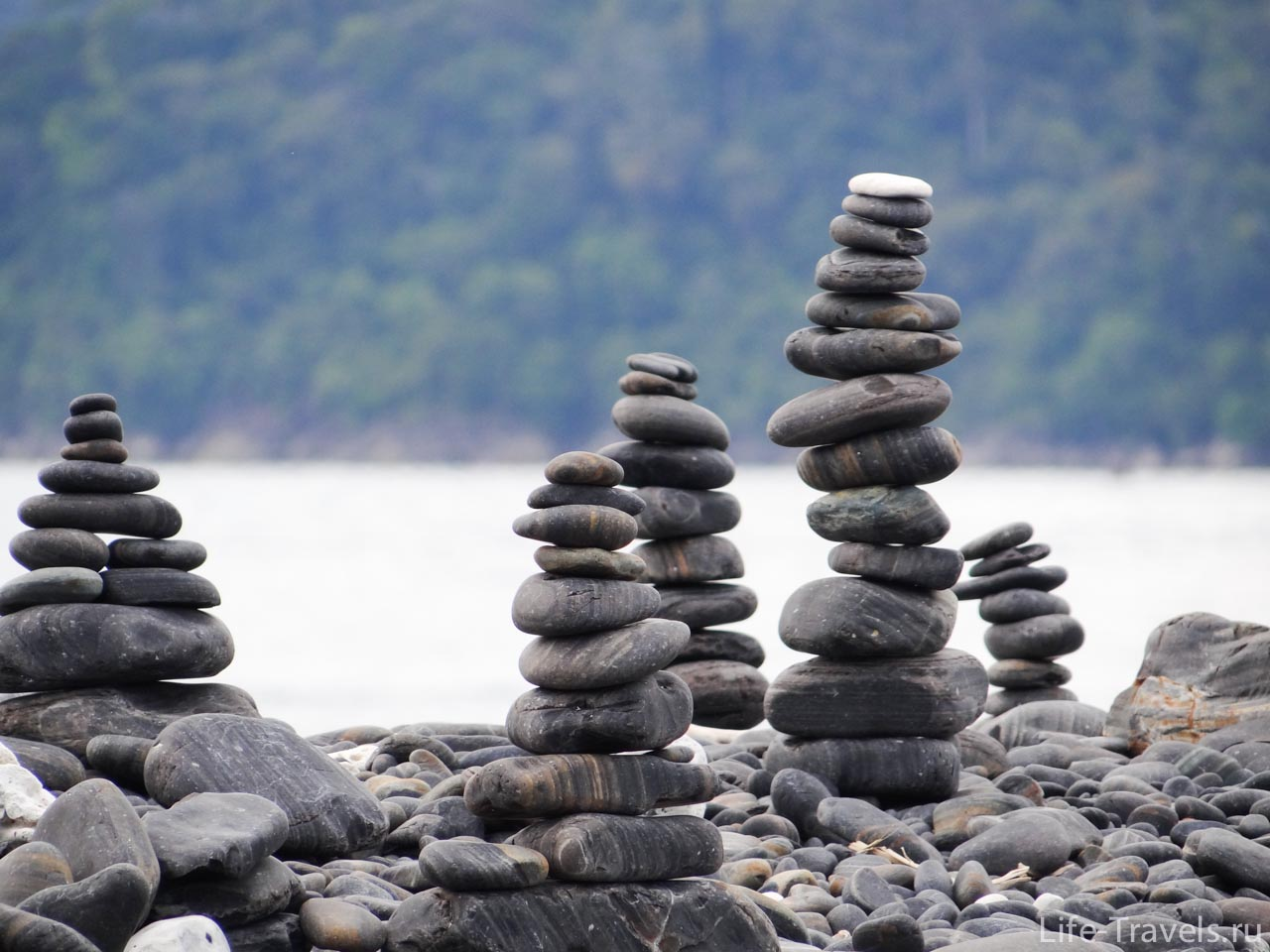 Cairns on the island
