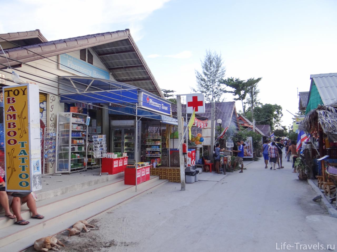 Koh Lipe main street and pharmacy