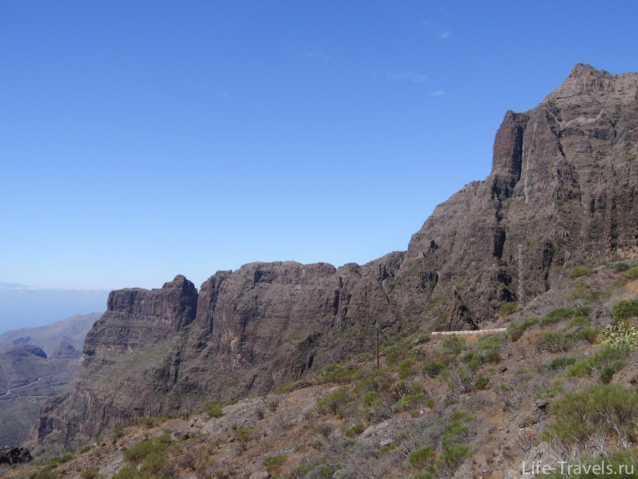 Masca rocks in the gorge