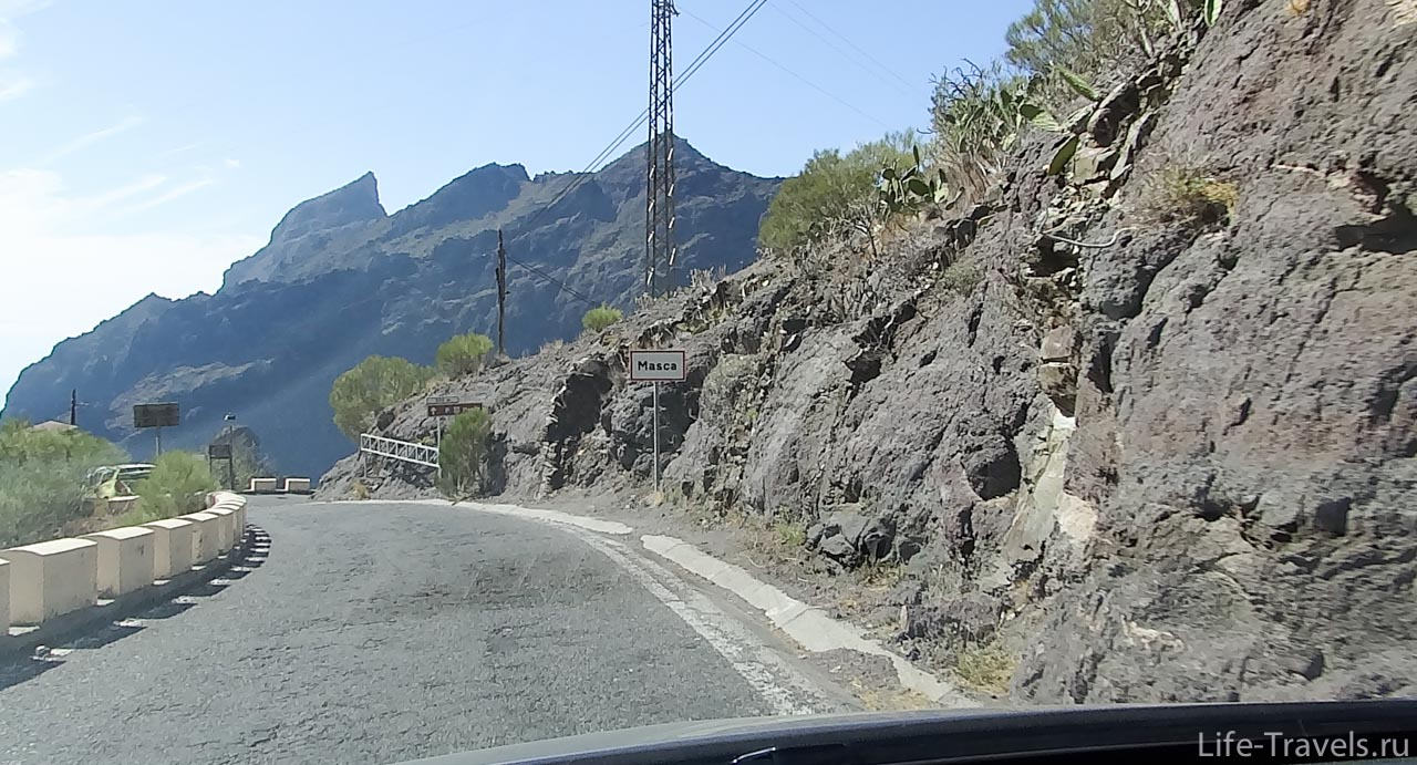 Masca village sign