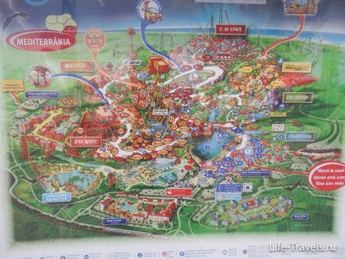 Map Port Aventura