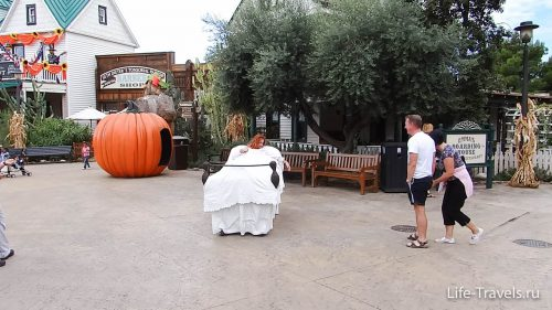 Halloween in Port Aventura coffin on wheels